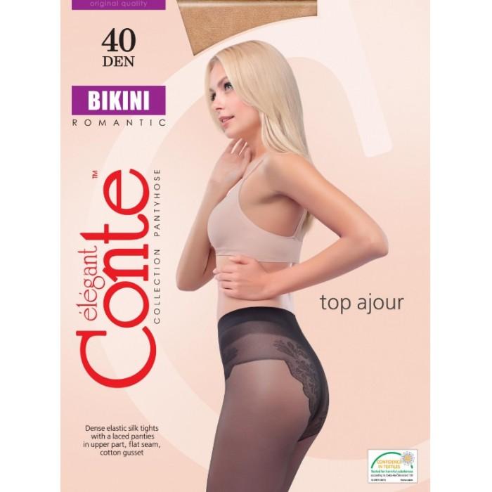 Колготки с ажурными трусиками Conte Bikini 40