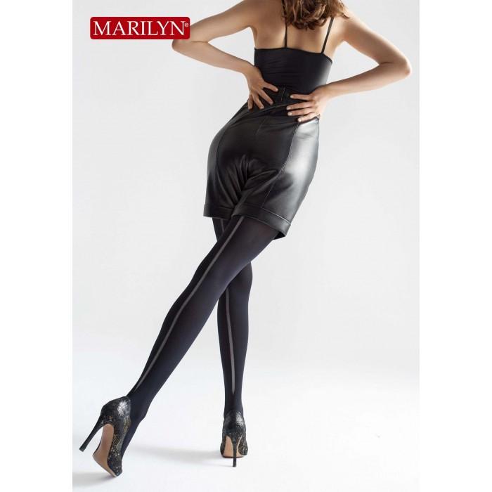 Плотные колготки со швом Marilyn Allure W08