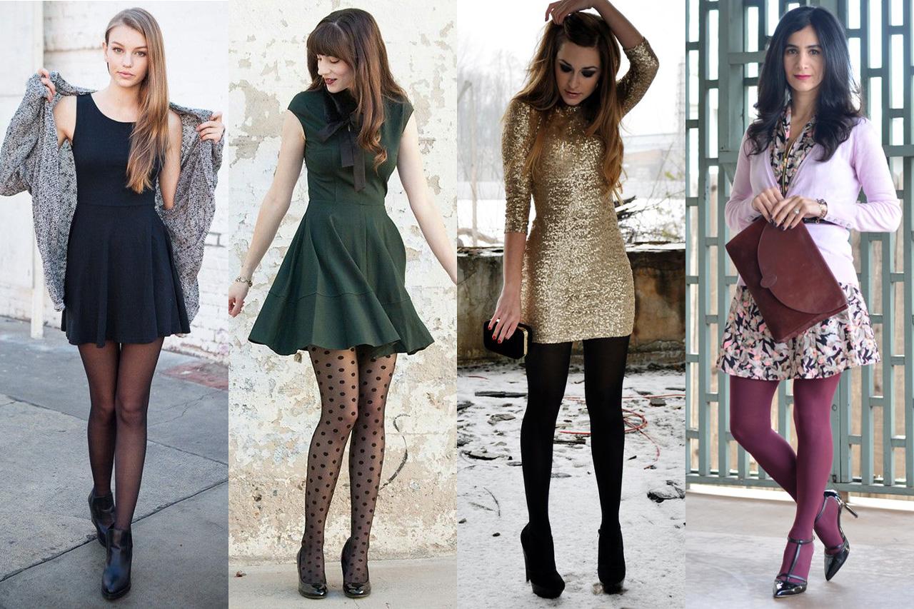 Как выбрать колготки под цвет, стиль и фактуру платья